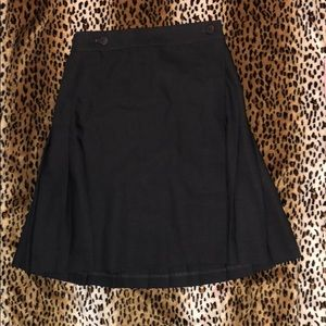American apparel XS pleaded skirt NWT GRAY